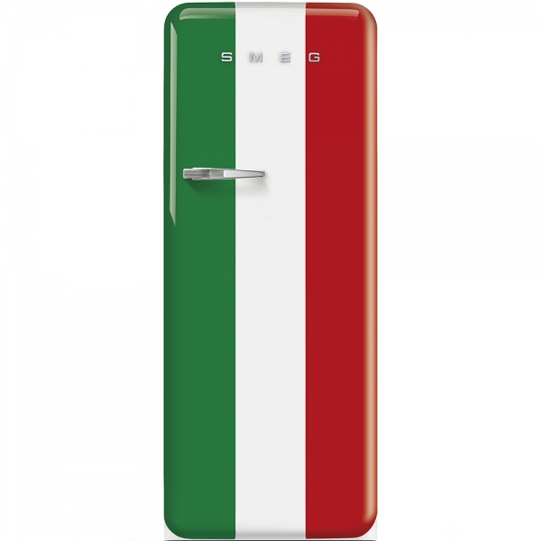 SMEG Retro-Style Standkühlschrank 50er Jahre italienische Flagge FAB28RDIT3