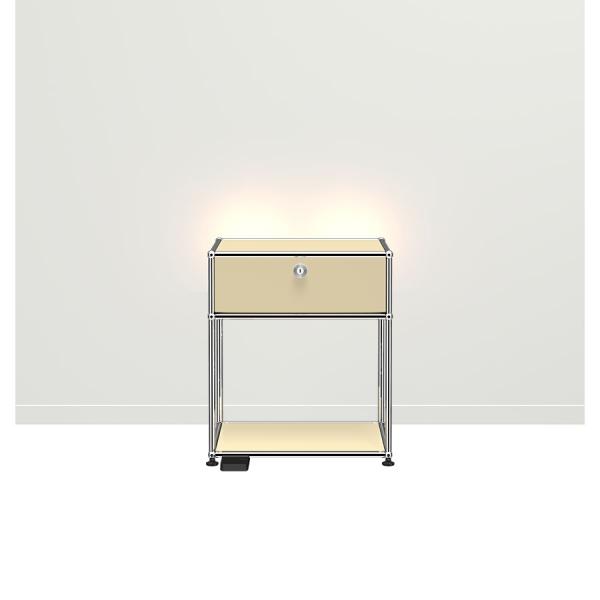 USM Haller E Nachttisch mit dimmbarem Licht USM beige