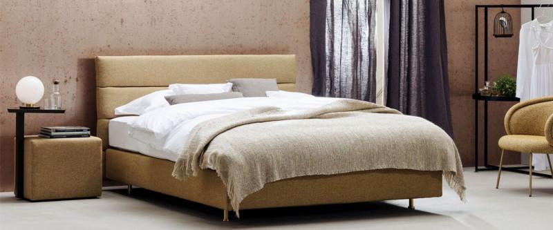 Schramm Purebeds PANEL Bett aus Stoff