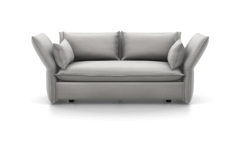 Vitra Mariposa Sofa Zweisitzer Stoff Iroko 2 silbergrau