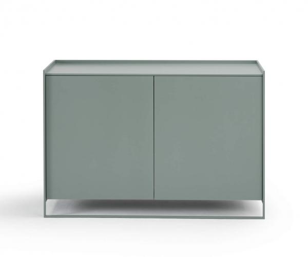 Möller Design LEAN BOX K1201ET80 Kommode mit 2 Türen & Fachboen Lack matt