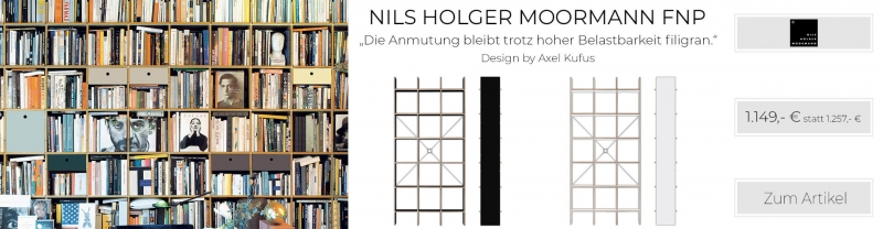 Nils Holger Moormann Regal FNP MDF weiss