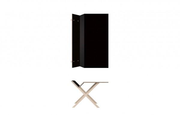 Nils Holger Moormann Schreibtisch Kant Linoleum schwarz B 160 cm