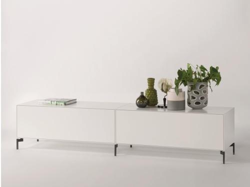 Piure NEX PUR BOX TV-HiFi-Möbel 240 x 505 x 48 cm weiss