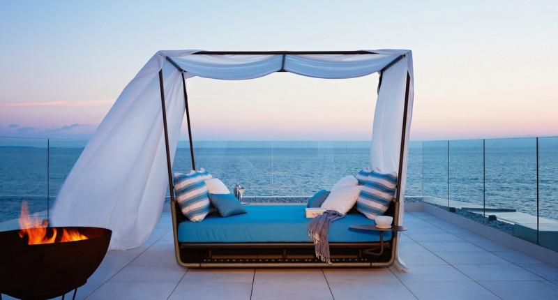 Roberti Rattan Daybed Outdoormöbel und Terrassenmöbel