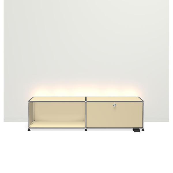 USM Haller E TV/Hi-Fi-M?bel mit dimmbarem Licht USM beige