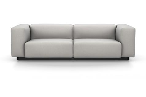Vitra Soft Modular Sofa Zweisitzer Stoff Iroko 2 silbergrau
