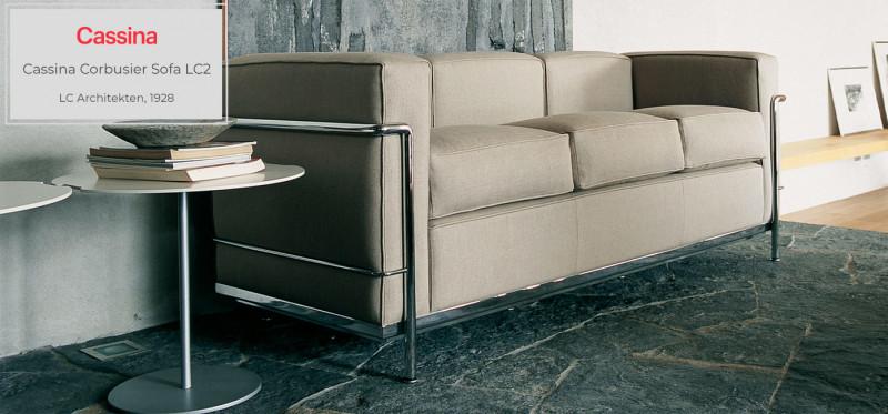 Cassina Le Corbusier LC2 / LC3 Sofa