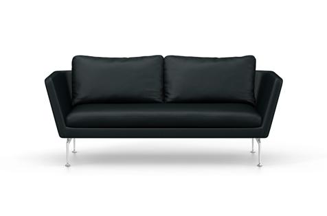 Vitra Suita Sofa 2-Seater Leder nero