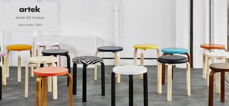 Artek 60 Hocker skandinavisches Design