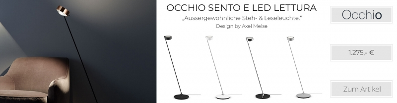 Occhio Sento E LED Lettura 125 Fuß recht o. links chrom