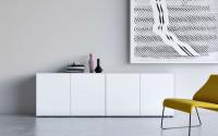 Piure NEX PUR BOX Sideboard mit Drehtüren 240 x 77,3 x 48 cm weiss matt