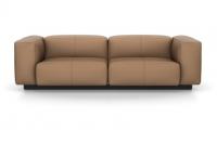 Vitra Soft Modular Sofa Zweisitzer Leder camel