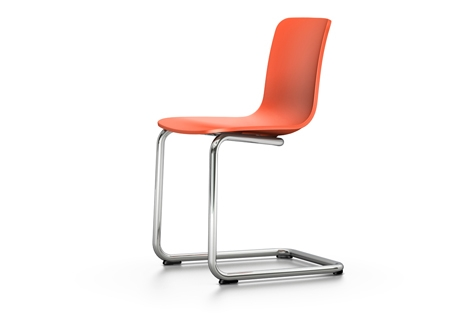 Vitra HAL Cantilever Freischwinger Stuhl orange UG: chrom