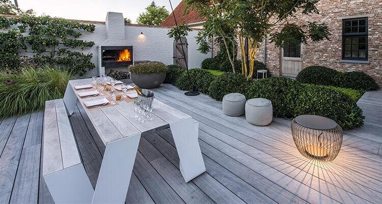 Terrassen Outdoomöbel Objekteinrichtung