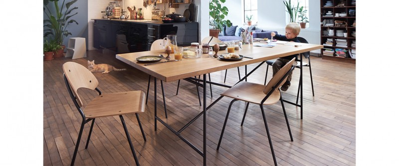 Richard Lampert Eiermann 2 Esstisch mit Stuhl