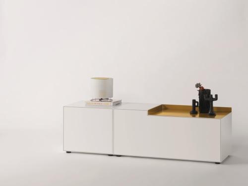 Piure NEX BOX Sideboard 180 x 48 x 52,5 weiss matt