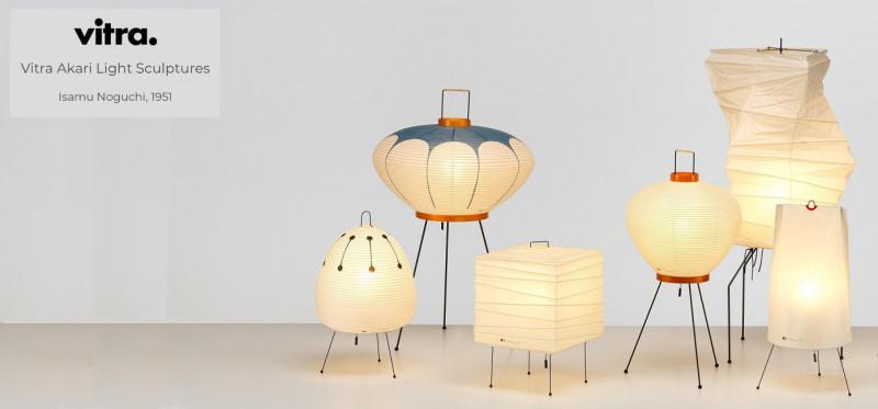 Vitra Akari Light Sculptures Leuchten im japanischen Design