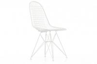 Vitra Wire Chair DKR Stuhl outdoorgeeignet pulverbeschichtet glatt weiss