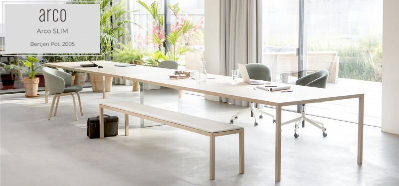 Arco Slim Esstisch Holztisch mit 4 Beinen