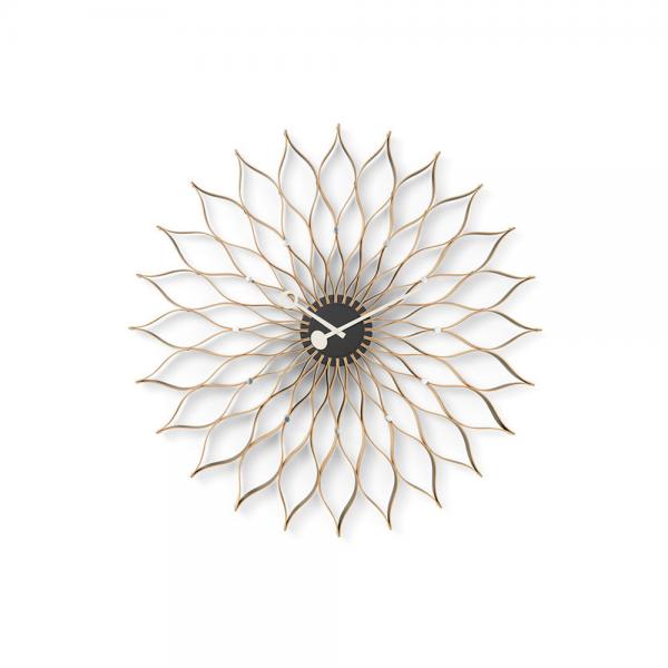 Vitra Sunflower Clock Wanduhr Birke