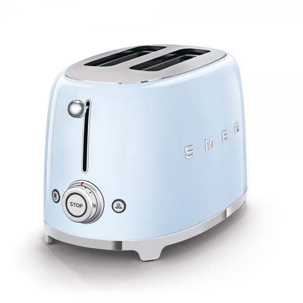 SMEG Retro-Style 2-Scheiben-Toaster pastellblau TSF01PBEU