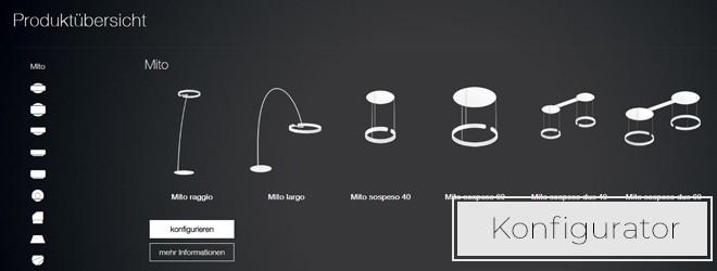Entdecken Sie den Occhio Leuchtenkonfigurator
